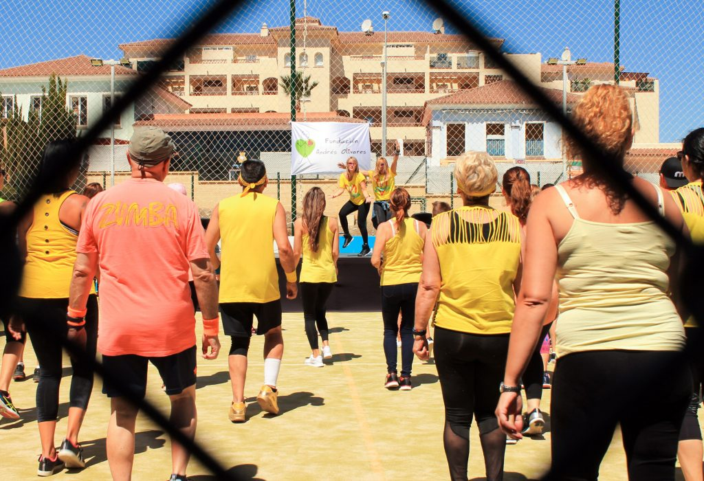 Zumba solidaria a beneficio de la Fundación Andrés Olivares